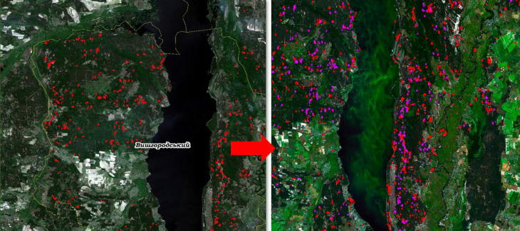 Permanent detection of forest logging