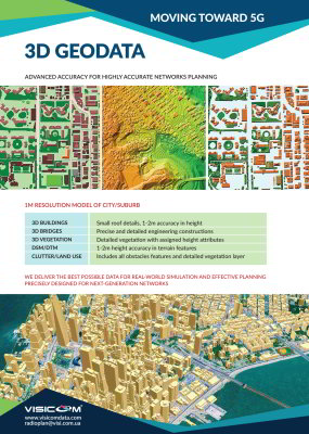 3D RF Maps for 5G, 4G and other planning